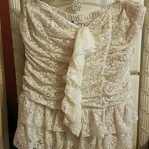 Vintage ruffle lace corset